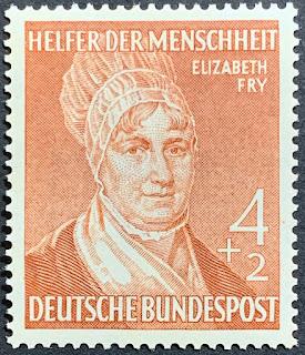 Germany, Bundesrepublik Deustchland, Semi-Postal, Elizabeth Fry