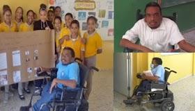 Profesor en silla de rueda un ejemplo a seguir y orgullo dominicano