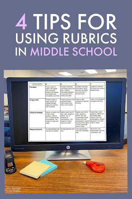 Use these tips when creating and evaluating project-based learning for your middle school students!