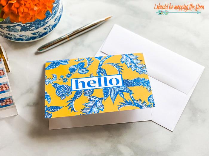 Hello Card Printables