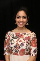 Ritu Varma smiling face Cream Anarkali dress at launch of OPPO New Selfie Camera F3 ~  Exclusive 008.JPG