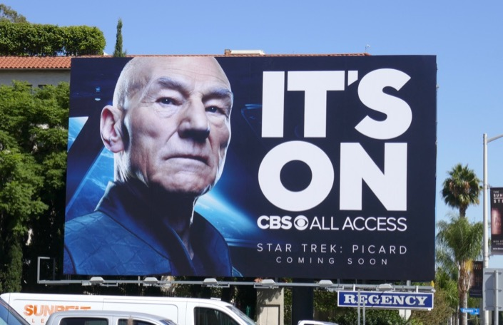 Its On CBS All Access Star Trek Picard billboard