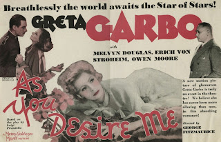Cartel de Como tu me deseas. (As You Desire Me)