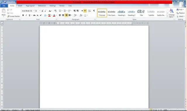 gui menu microsoft word