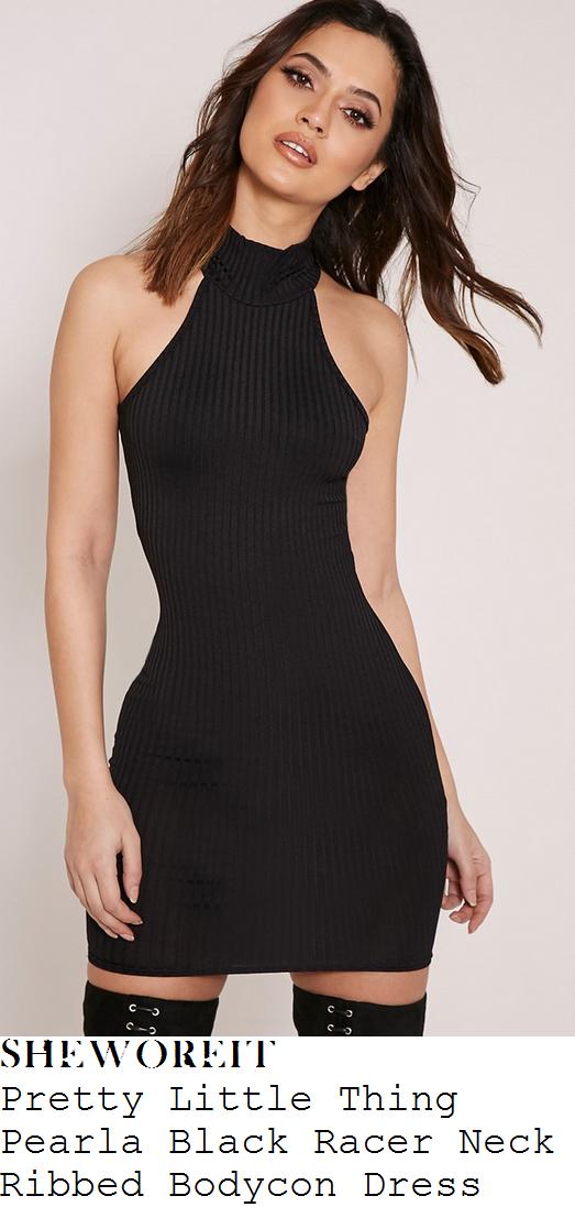 chloe-sims-black-ribbed-high-neck-sleeveless-cut-away-front-bodycon-mini-dress
