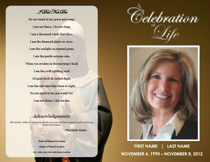 free funeral templates - the funeral memorial program blog free funeral program
