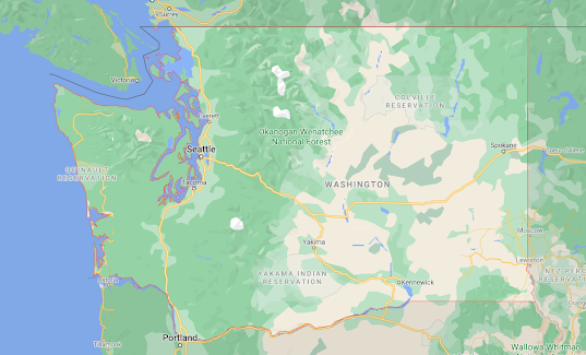 Washington State Map USA