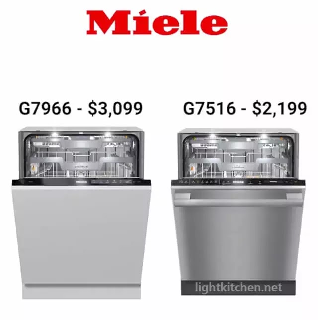 Miele G7966 and G7516 Dishwashers Prices
