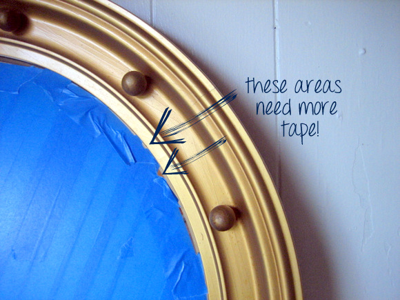 Apply a lot of tape: Port Hole Mirror | DIY Playbook