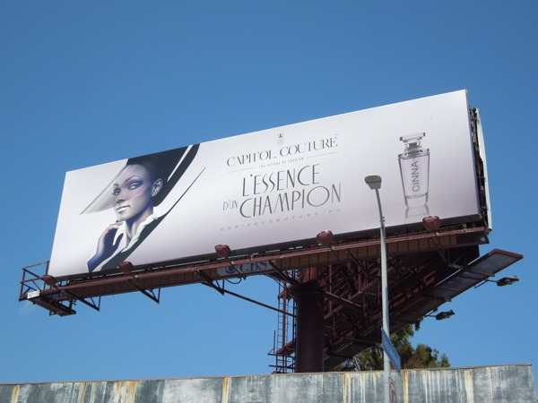 Capitol Couture L'Essence d'un Champion Hunger Games 2 teaser billboard
