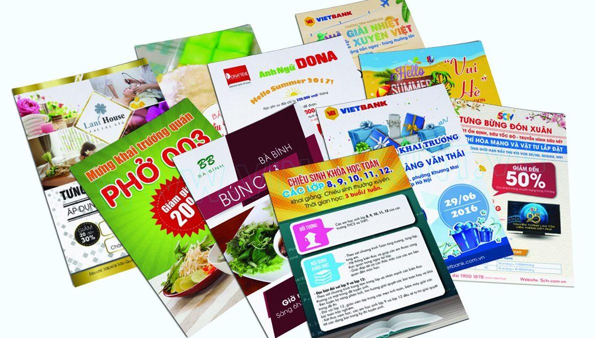 In tờ rơi giá rẻ tại Đà Nẵng