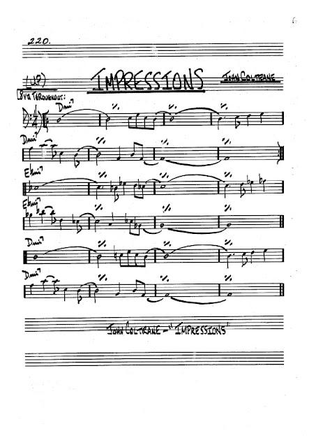 Partitura Trombón John Coltrane