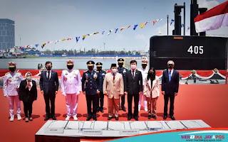 Menteri pertahanan RI Prabowo Subianto saat memberikan sambutan