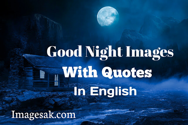 Good Night Image With Quotes In English