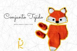 Conjuto tejido a crochet