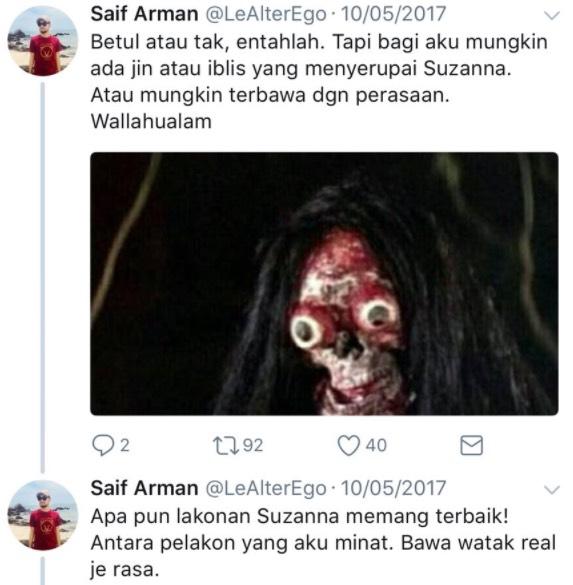 Pelakon Sundel Bolong Paling Angker, Suzanna