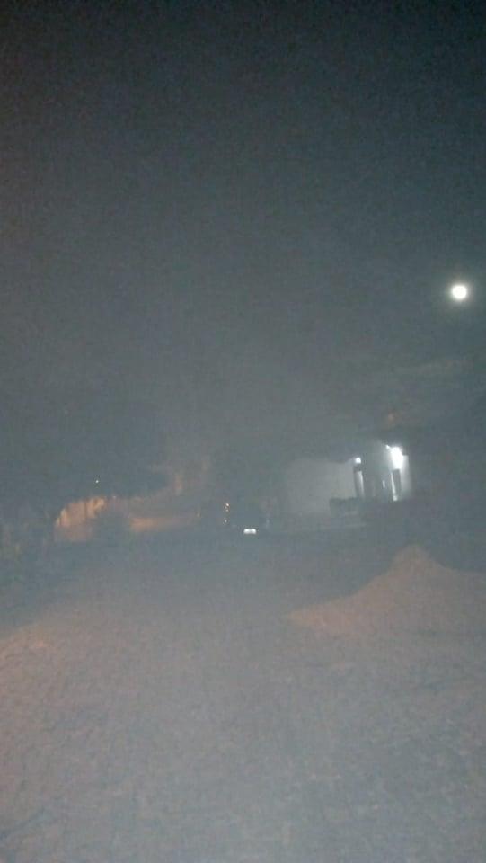 Fumaceira surreal nos bairros Capitão Mundoco, Cirino e parte de Elesbão Veloso.