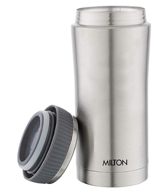 Milton Optima 360 Thermosteel Flask to Keeps Beverages Hot/Cold for Long Hours