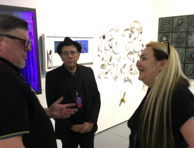 Tim Tate, Lennox Campello and Sandra Ramos at Pulse Art Fair 2019 Miami Beach