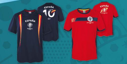 camiseta de fútbol España Euro 2016 para hombre Lidl