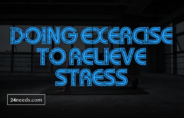 ڈڈDoing exercise to relieve stress