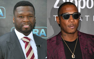 Ja Rule and 50 Cent photos beef