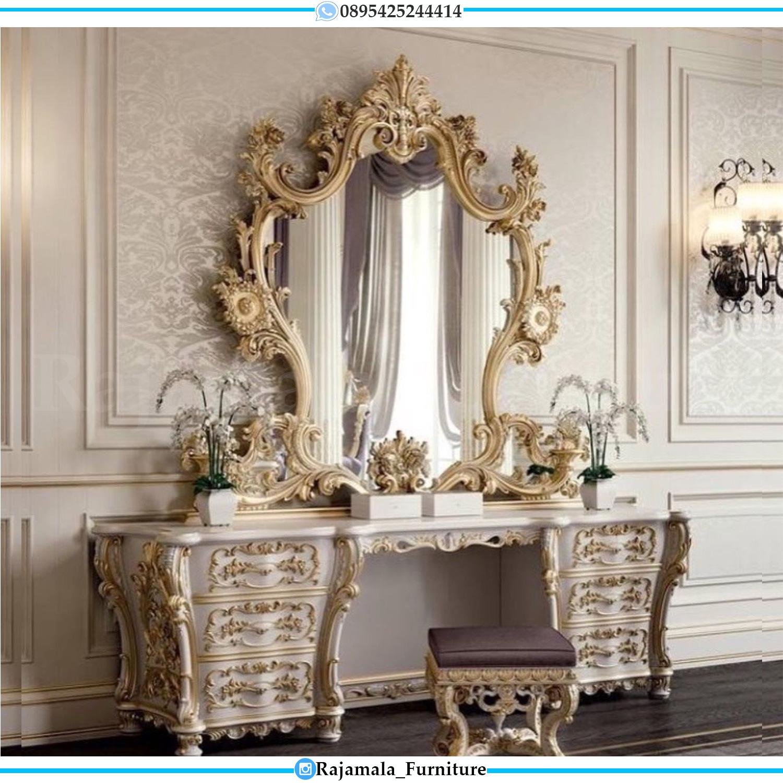 Meja Rias Mewah Ukiran Jepara New Luxury Classic Design RM-0045
