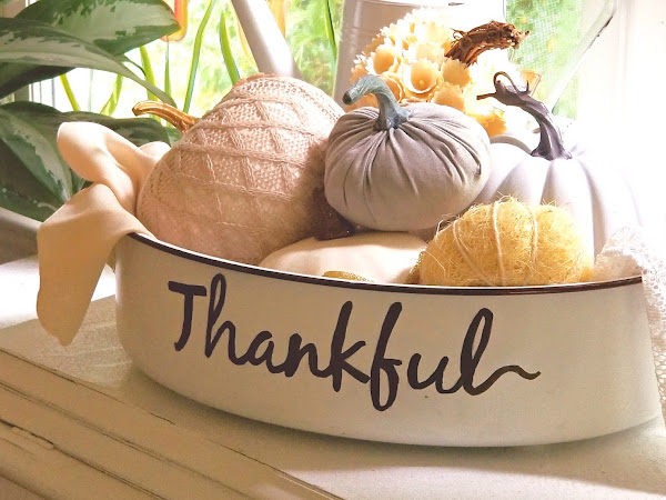 How to Make an  Enamelware Thankful Basin Fall Decor