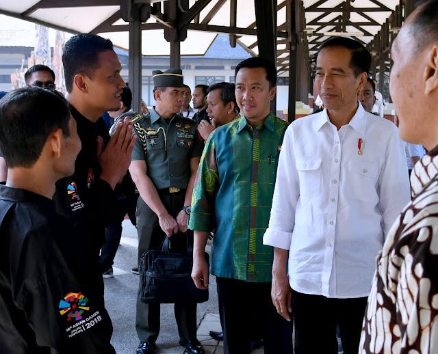 Jokowi Tinjau Persiapan Atlet Pencak Silat Jelang Asian Games 2018