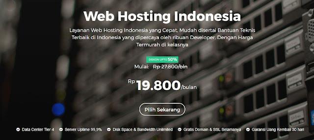 Membuat Blog Atau Website Profesional Dengan Niagahoster yang menyedikaan web hosting unlimited cepat dan terpercaya