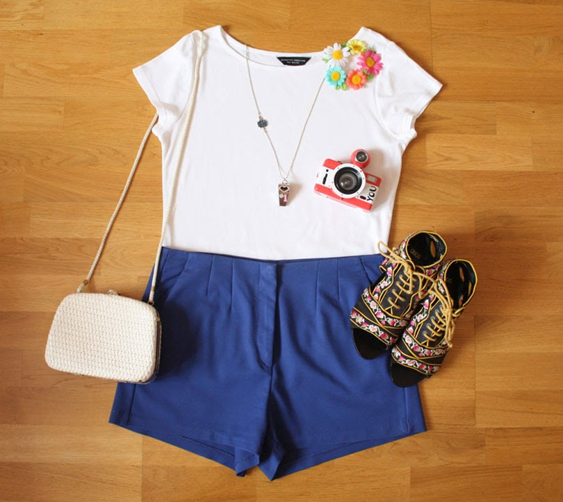 summer fashion outfit flat lay from the high street