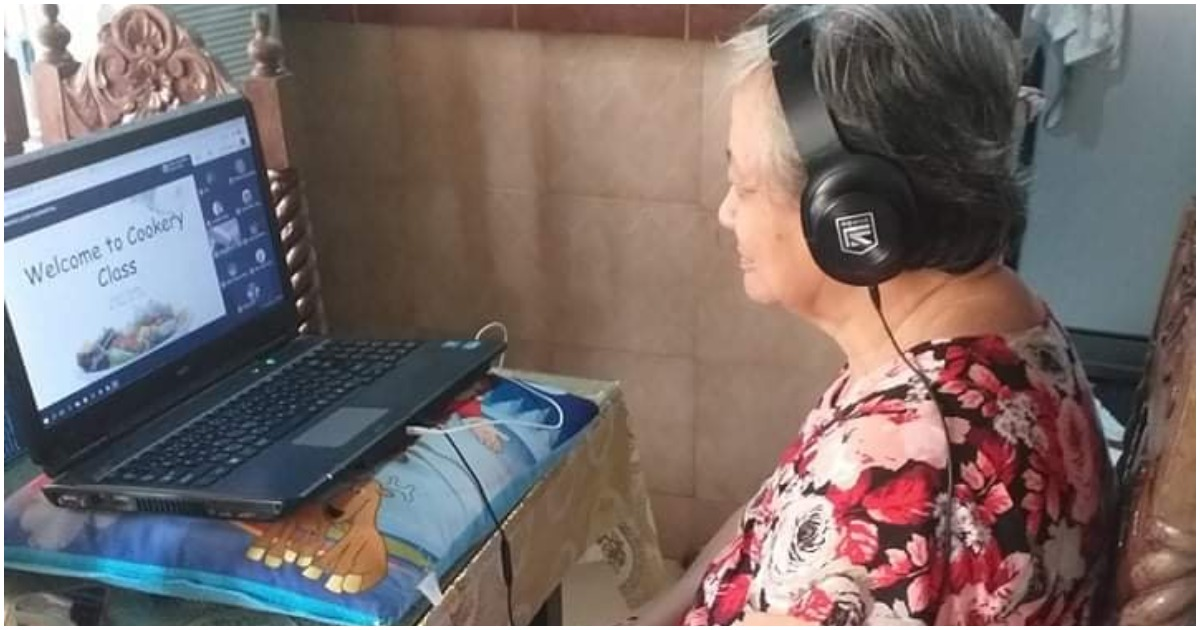 Adorable grandma goes viral after joining grandson's online class