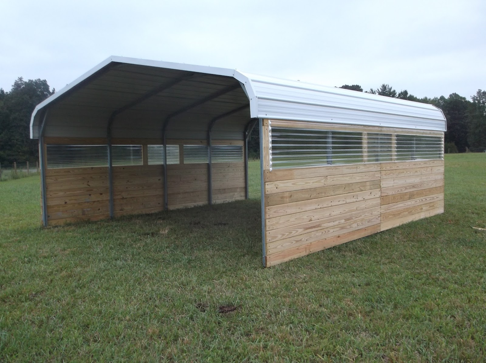 Metal Carport Barns : Powell acres farm carport barn