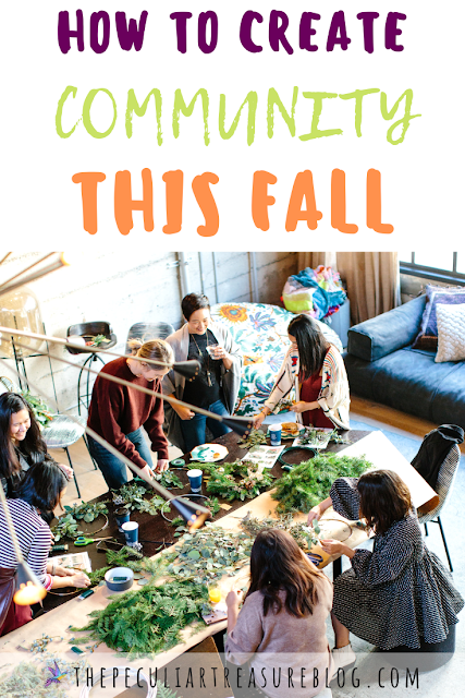 Women talking and creating community in the Fall