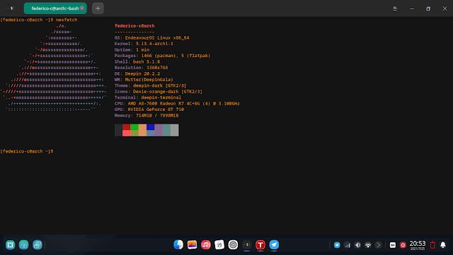 #DeepinDE #Arch ¿Cómo instalar el escritorio Deepin en Arch linux y derivados (#EndeavourOS #XFCE)?