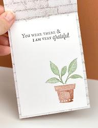 Stampin' Up! Bloom Where You're Planted Designer Paper Card Base ~ Plentiful Plants Card ~ www.juliedavison.com #stampinup