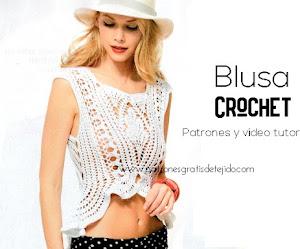 Blusa con estilo para tejer a crochet | Patrones y tutoriales