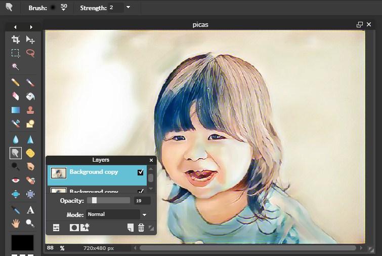 efek foto lukisan kartun