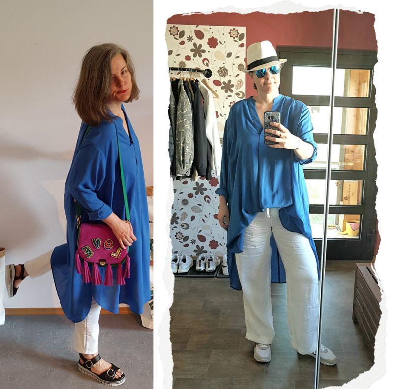 Neues in 2020: knallblaues Hemdblusenkleid