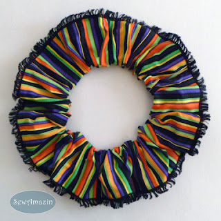 Halloween Dog Scrunchie Ruffle, Stripes