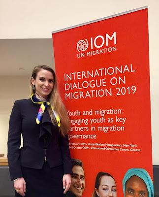 معالي السيدة جوليا بلوتشر، رئيس الإتحاد الدولي للشباب