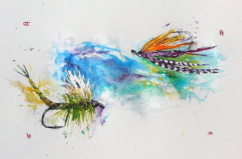 A Year On The Fly Painting Trout Flies