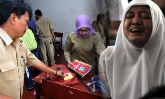 Para Guru Meneteskan Air Mata Melihat Isi Tas Siswa Ini Pada Saat Di Razia