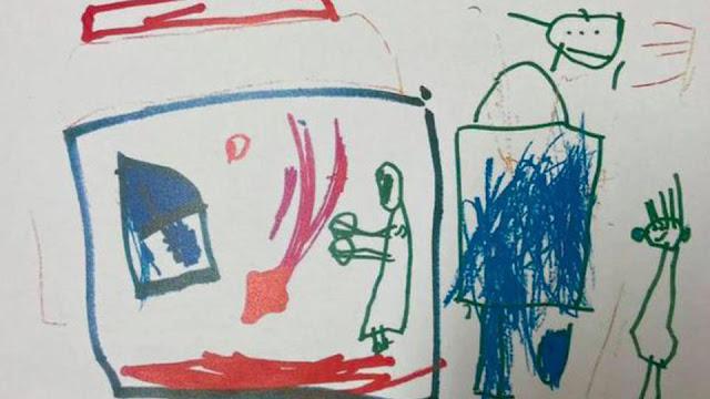 Девочка нарисовала свое убийство и умерла от рук родителей
