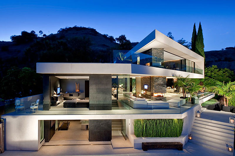 Modern Cabinet: Modern Hollywood Mansion; Openhouse By