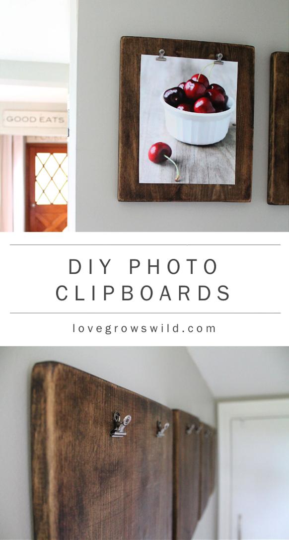 Diy Photo Clipboards Love Grows Wild