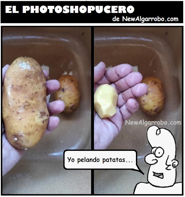 yo pelando patatas