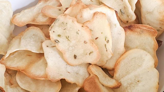 recette, chips, fait maison, sans pommes de terre, sans gluten, sans légumes, au four