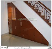 Lemari bawah tangga minimalis flow