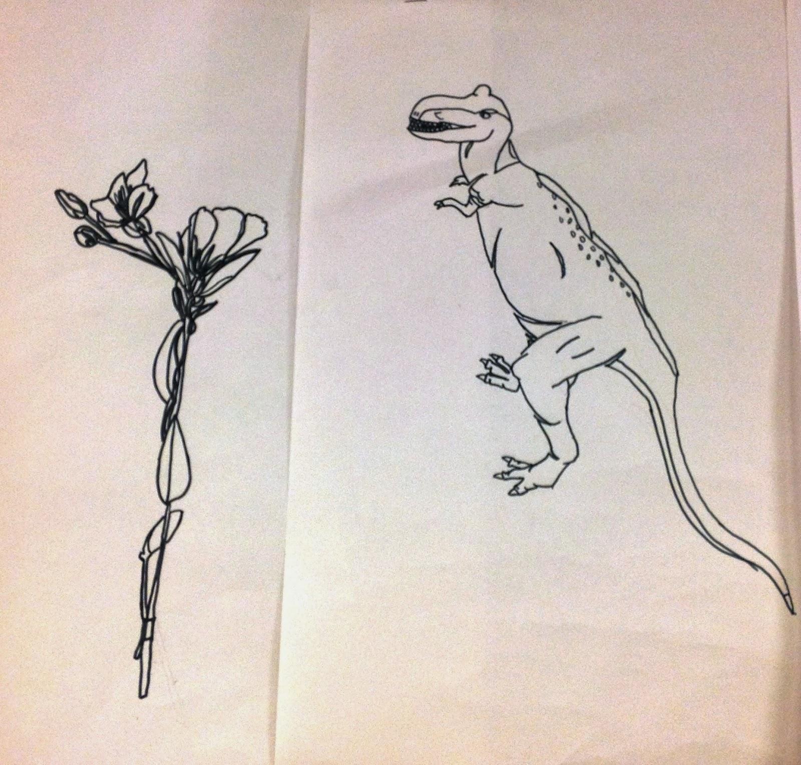 Miss Arty Pants Contour Line Drawings
